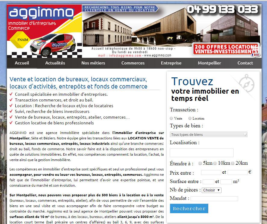 Site web d'Aggimmo